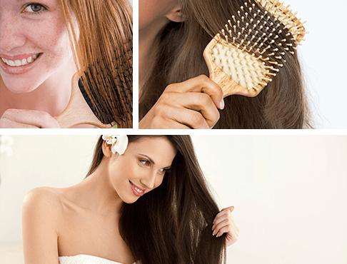 Mujer peinándose el cabello - Dermatólogo Pilar Torres